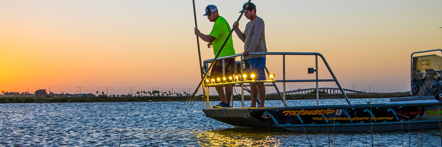 Flounder giggin' with Capt. Stephen Mauch